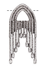 Zola Elements Antique Silver (plated) Gothic Arch Chandelier Focal 30x66mm
