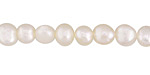 Pearly White Freshwater Flat-Sided Potato Pearl 7-8mm