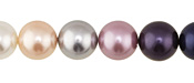 Grape Smoothie Shell Pearl Mix Round 12mm