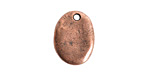 Nunn Design Antique Copper (plated) Primitive Oval Charm 14x18mm