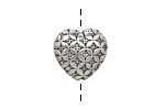 Pewter Woven Heart 16x17mm