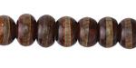 Tibetan (Dzi) Agate Dark Banded Rondelle 7-8x11-12mm