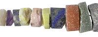 Matte Multi Stone (Rose Quartz, Citrine, Prehnite, Amethyst) Graduated Wheel 4-10x10-20mm