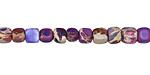 Purple Impression Jasper Tumbled Cube 3-4mm