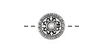 Antique Silver Finish Tibetan Style Coin Bead 13.5mm