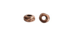 Nunn Design Antique Copper (plated) Small Organic Rondelle (large hole) 3x5mm