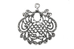 Zola Elements Antique Silver (plated) Lace Leaf Focal 27x30mm