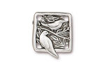 TierraCast Antique Silver (plated) Botanical Bird Link 18x21mm