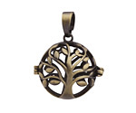 Antique Brass (plated) Tree Of Life Diffuser Locket 25x32mm