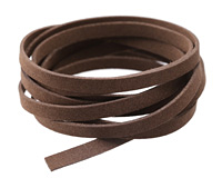 Dark Brown Microsuede Flat Cord 7mm