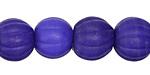 Nepalese Glass Cobalt Melon Beads 11-13x13-15mm
