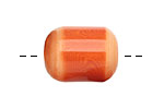 Tagua Nut Orange Bicolor Barrel 23-24x16-17mm