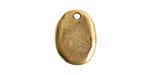 Nunn Design Antique Gold (plated) Primitive Oval Charm 14x18mm