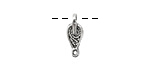 Zola Elements Antique Silver (plated) Stitched Teardrop Link Charm 6x15mm