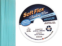 "Soft Flex Green Turquoise .019"" (Medium) 49 Strand Wire 10ft."