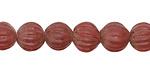 Nepalese Glass Garnet Melon Beads 9-10x9-11mm