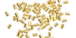 Beadalon Gold (plated) Crimp Tubes for .5mm Stretch Cord