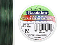 "Beadalon Green .015"" 7 Strand Wire 30ft."