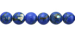 Cobalt Mosaic Shell Round 8-8.5mm