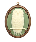 Vintaj Natural Brass Natural Brass Honorable Owl Pendant 39x50mm