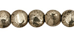 Golden Pyrite (silver tone) Irregular Puff Coin 12mm