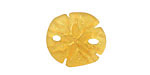 Desert Gold Recycled Glass Sand Dollar 20mm