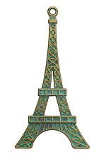 Zola Elements Patina Green Brass Eiffel Tower Pendant 36x70mm