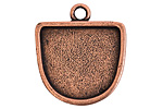 Nunn Design Antique Copper (plated) Grande Half Oval Pendant 28x31.5mm