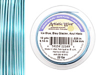 Artistic Wire Silver Plated Ice Blue 22 gauge, 10 yards