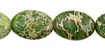 Green Impression Jasper Flat Oval 18x13mm