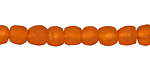African Recycled Glass Persimmon Tumbled Round 6-7mm