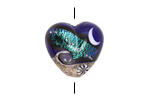 Grace Lampwork Cobalt Celestial Heart 19-20mm