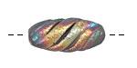 Xaz Raku Galactic Tornado Bead 26-30x12-14mm