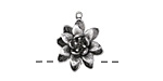 Zola Elements Antique Silver (plated) Dahlia Charm 17x19mm
