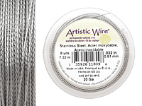Twisted Artistic Wire Stainless Steel 20 gauge, 8 yards
