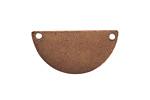 Nunn Design Antique Copper (plated) Flat Half Circle Tag 29x15mm