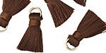 Chocolate Brown w/ Jump Ring Thread Tassel 17mm