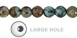 African Turquoise Round (Large Hole) 6mm