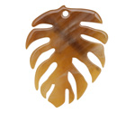 Zola Elements Caramel Bullhorn Acetate Monstera Leaf Focal 32x40mm