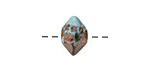 Greek Ceramic Raku Metallic Frosted Copper Oxyhedron Bead 12mm