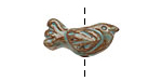 Gaea Ceramic Robin's Egg on Brick Folksy Bird 10-11x23-25mm