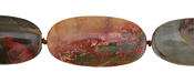 Red Creek Jasper Flat Oval 30x15mm