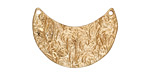 Zola Elements Matte Gold (plated) Floral Wavy Crescent Focal Link 29x20mm