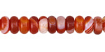 Carnelian (natural) Rondelle 5x8mm