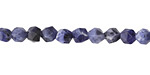 Sodalite Star Cut Round 6mm