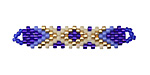 Mykonos Hand Woven Elongated Focal 42x14mm