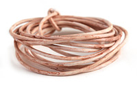 Weathered Vanilla Leather Cord 2mm