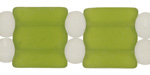 Olive Recycled Glass 2-Hole Pillow 18x20mm