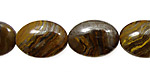 Tiger Iron Flat Oval 18x13mm