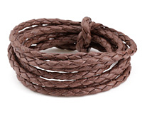 Coffee Braided Cotton Bolo Cord 4mm